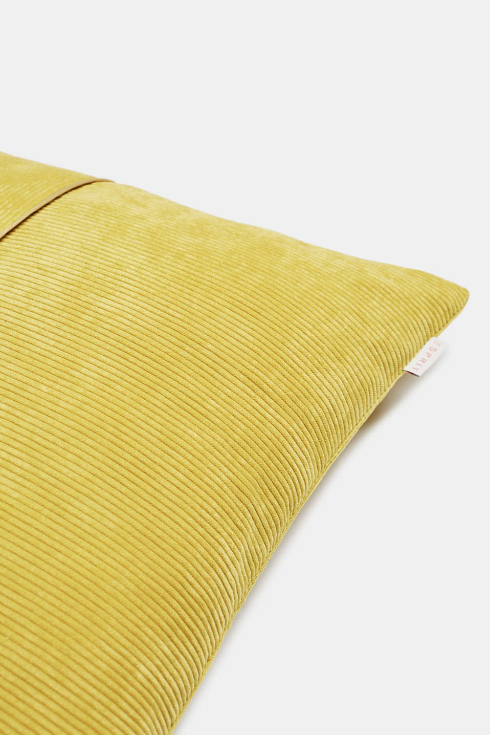 Cushion cover made of corduroy velvet, GOLD, detail image number 1