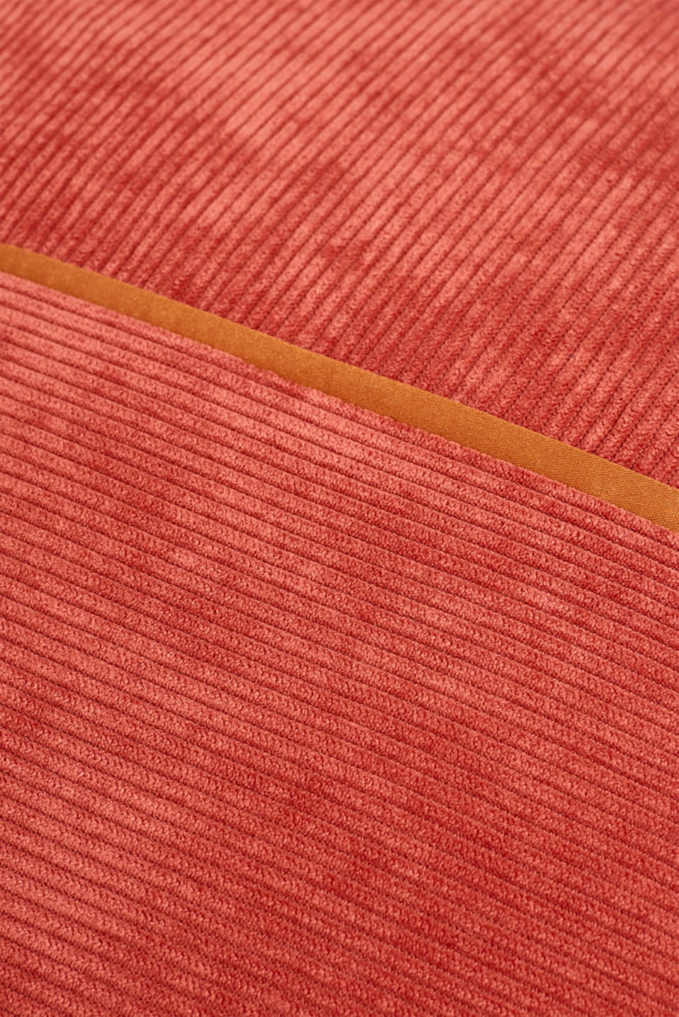 Cushion cover made of corduroy velvet, CORAL, detail image number 2