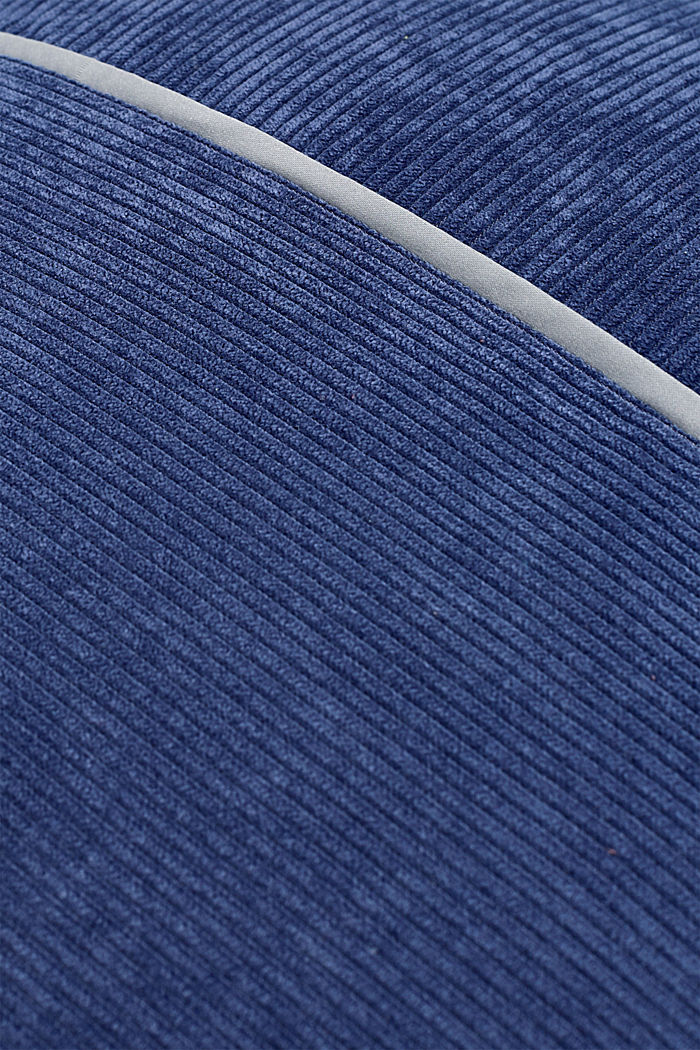 Cushion cover made of corduroy velvet, BLUE, detail image number 3
