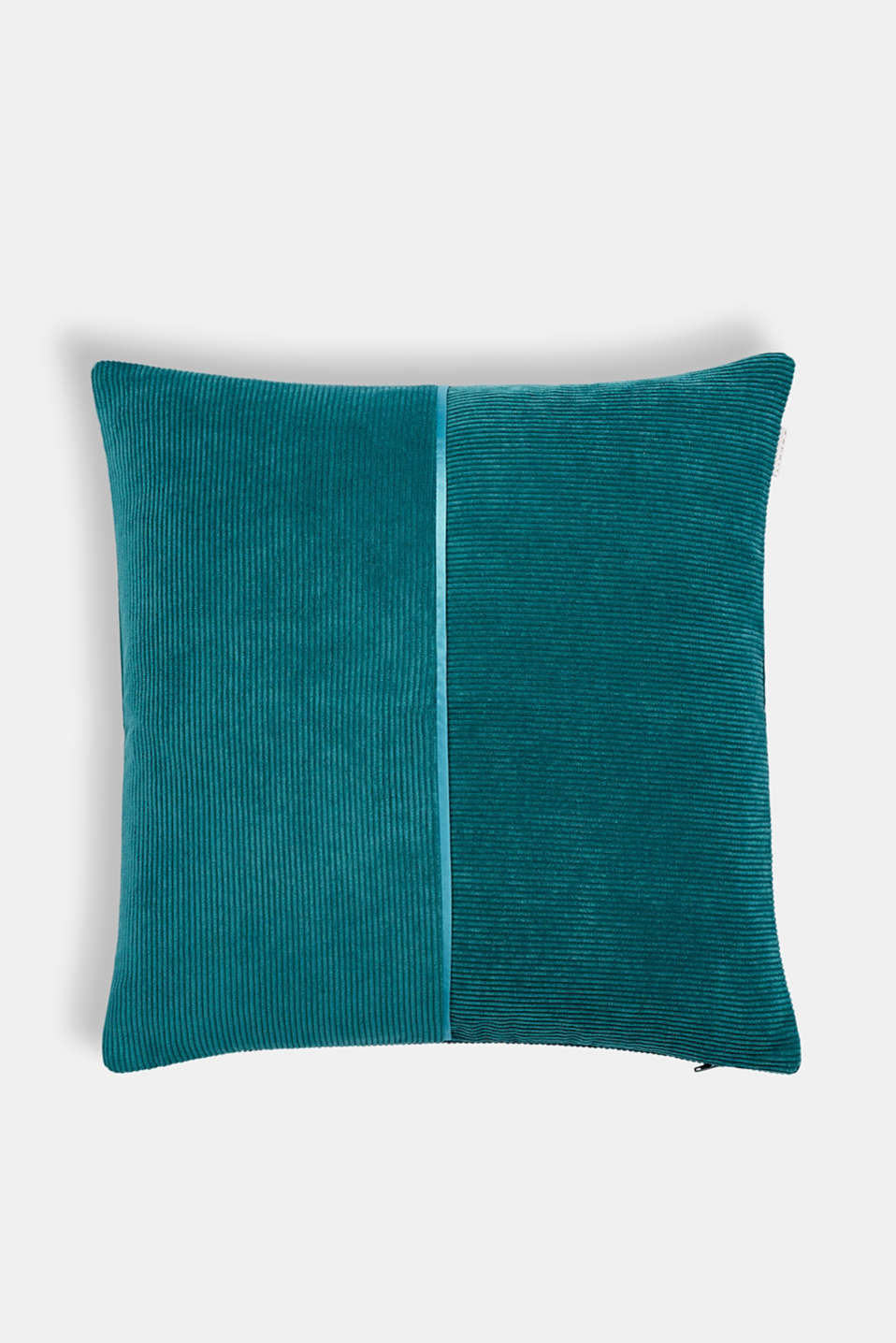 Cushion cover made of corduroy velvet, PETROL, detail image number 0