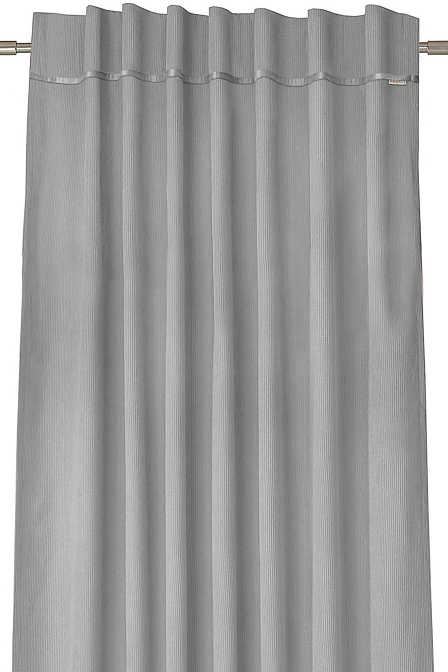 Corduroy curtains with concealed loops