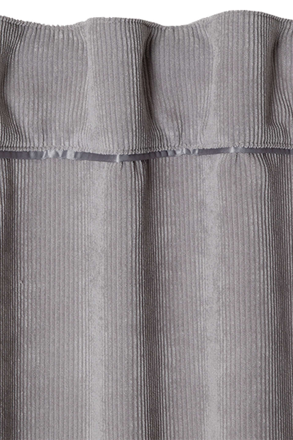 Corduroy curtains with concealed loops, GREY, detail image number 1