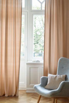 Corduroy curtains with concealed loops, BEIGE, detail