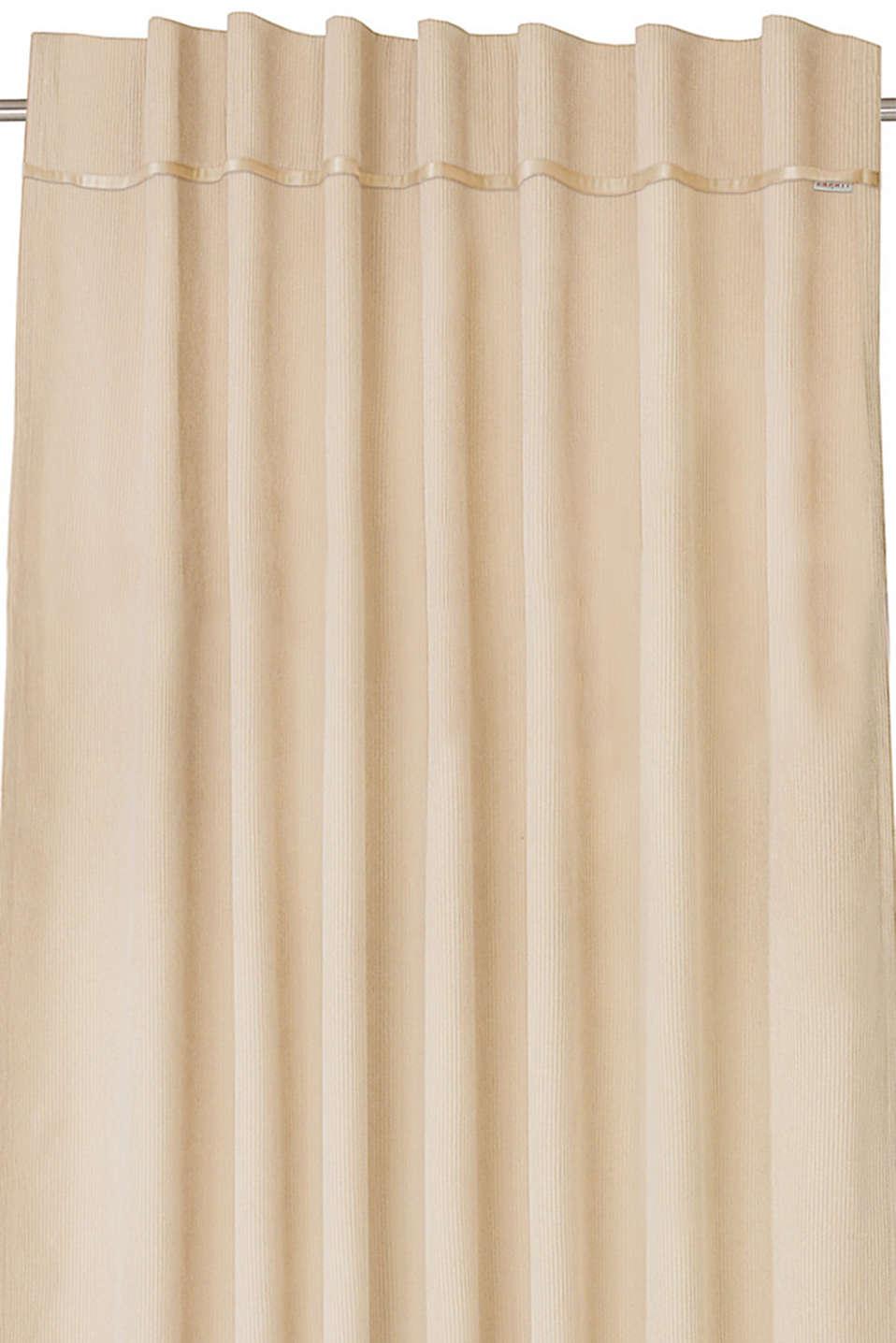 Corduroy curtains with concealed loops, BEIGE, detail image number 2