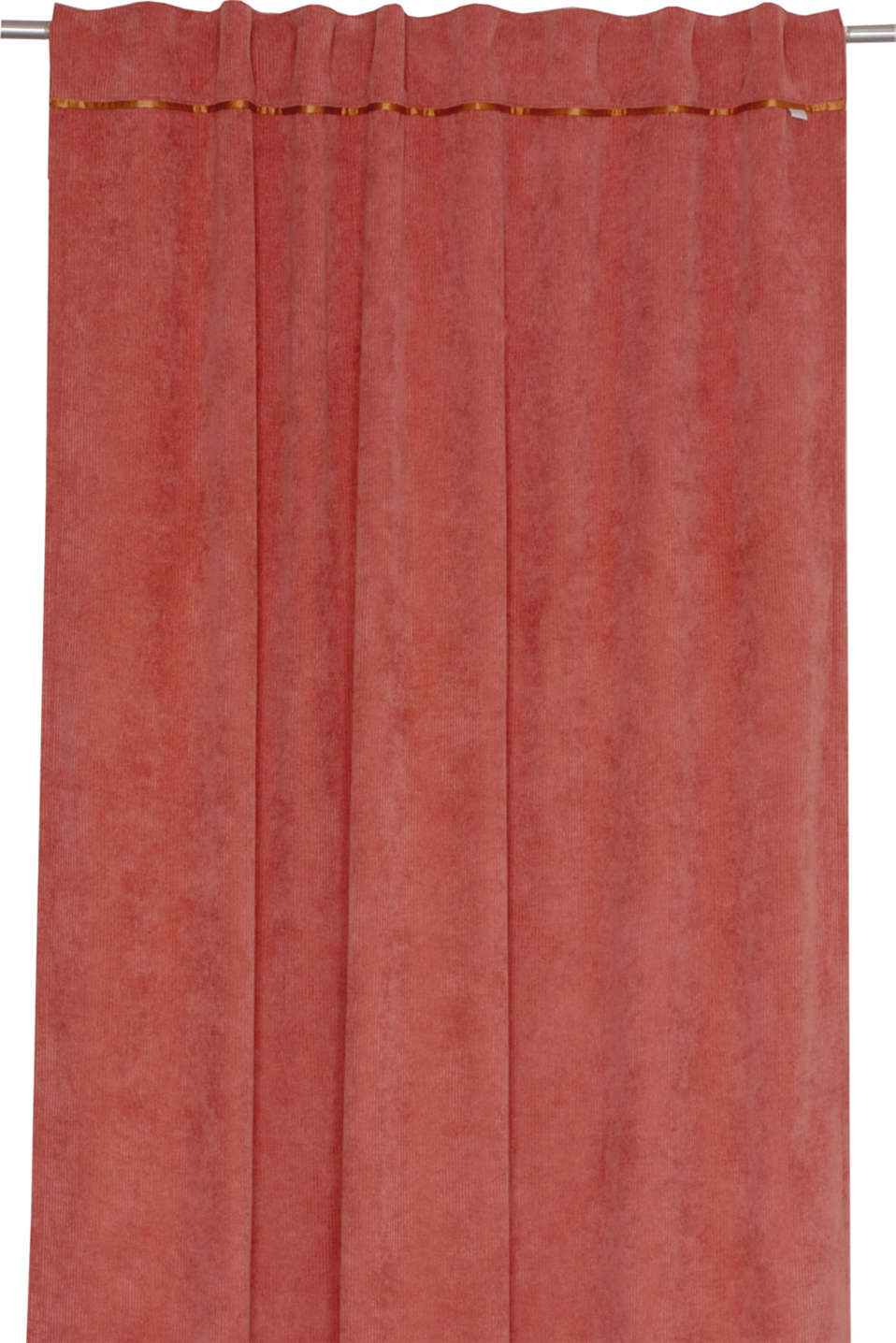 Corduroy curtains with concealed loops, CORAL, detail image number 0