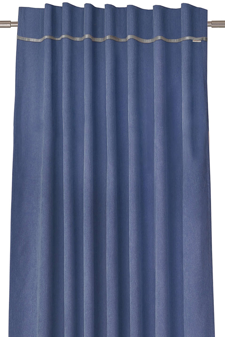 Corduroy curtains with concealed loops, BLUE, detail image number 0