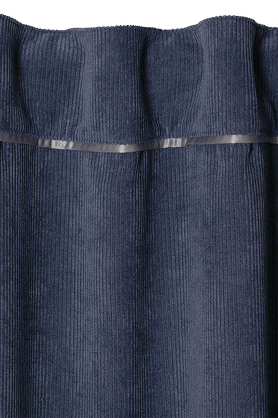 Corduroy curtains with concealed loops, BLUE, detail image number 1