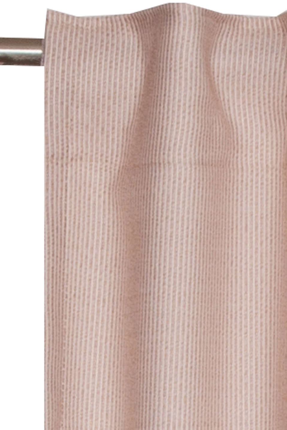 Curtain with woven stripes, ROSE, detail image number 1