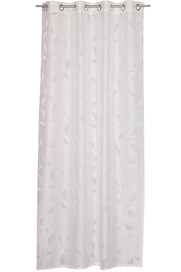 Eyelet curtain with an burnt-out pattern, OFFWHITE, detail image number 0