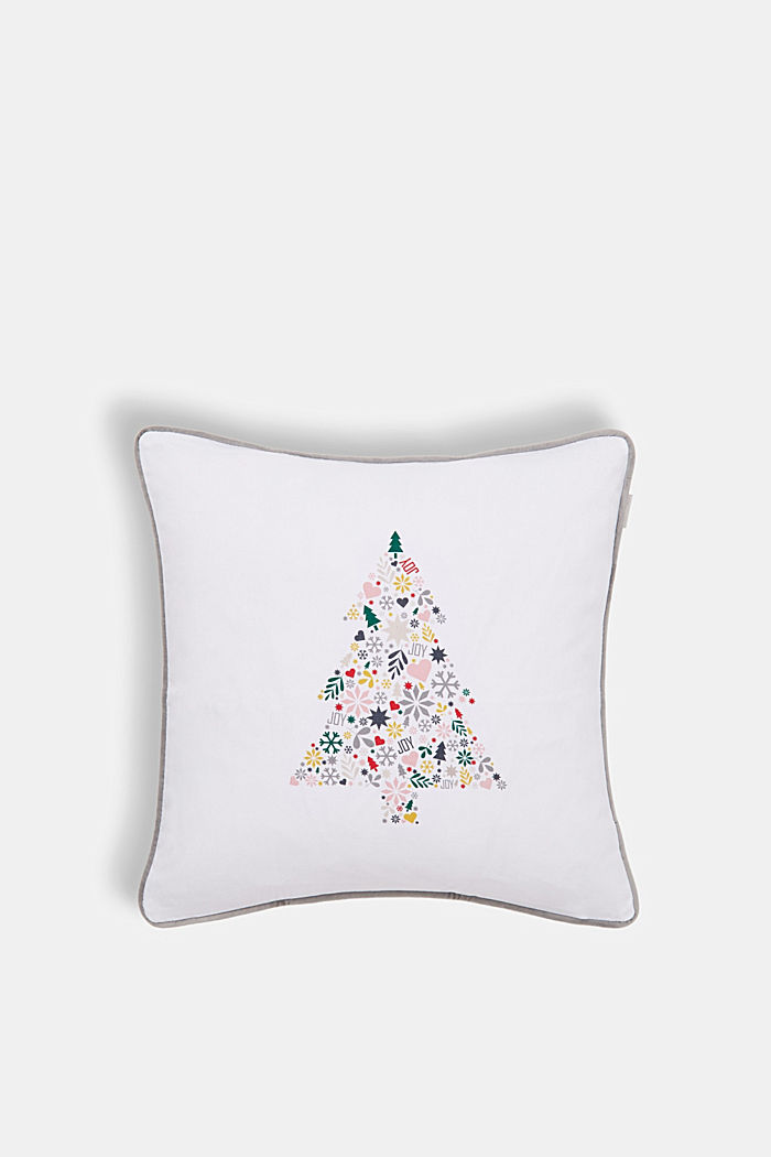 Reversible cushion cover made of 100% cotton, MULTICOLOR, detail image number 0
