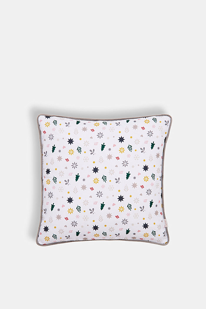 X-mas print cushion cover, MULTICOLOR, detail image number 0