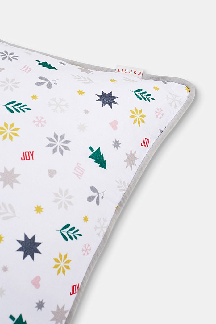 X-mas print cushion cover, MULTICOLOR, detail image number 1