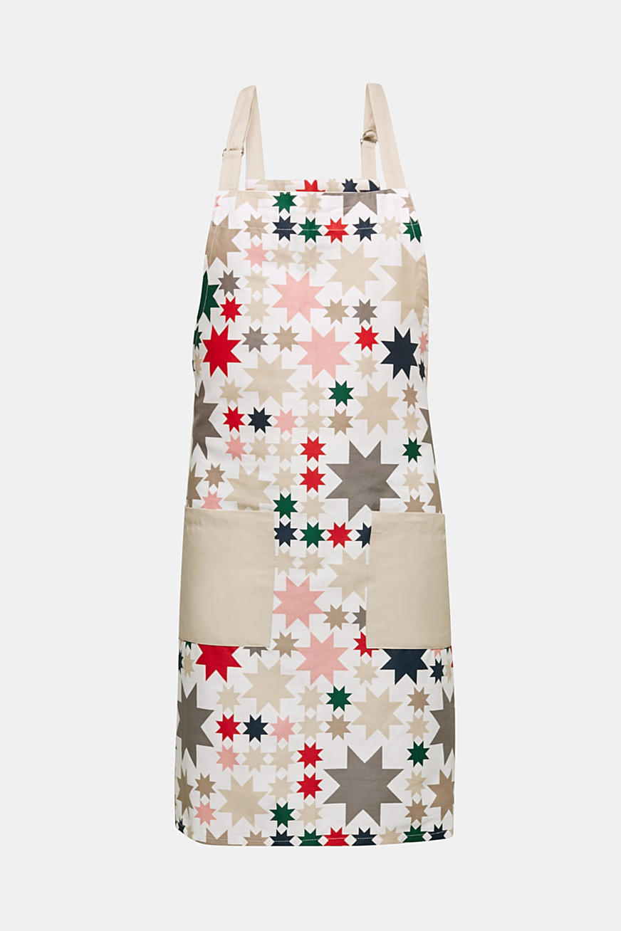 Apron with an X-mas print, 100% cotton