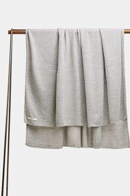Knit plaid, LCLIGHTGREY, detail