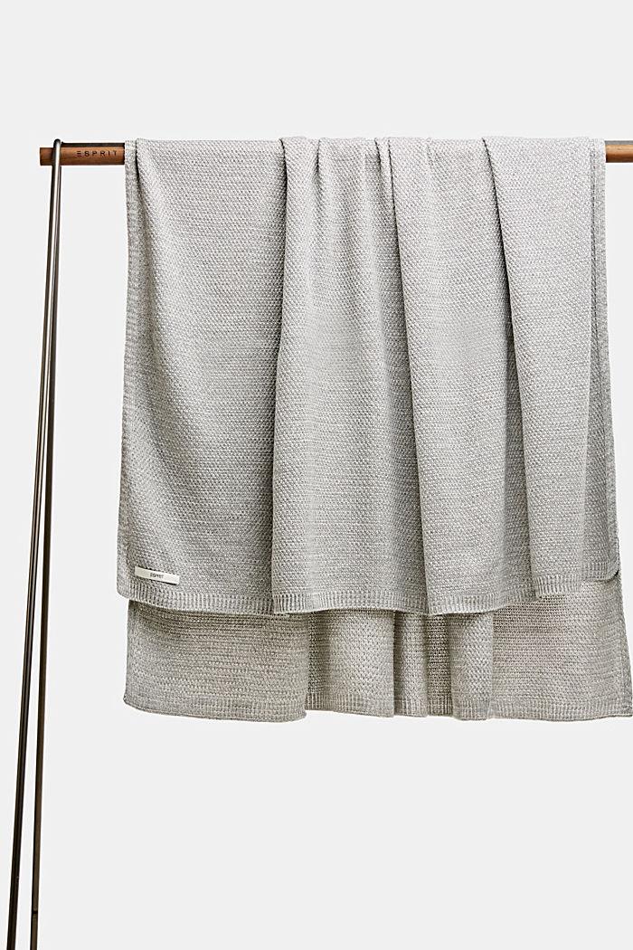 Knit plaid, LIGHTGREY, detail image number 0