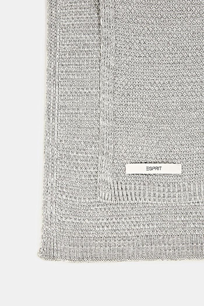 Knit plaid, LIGHTGREY, detail image number 2
