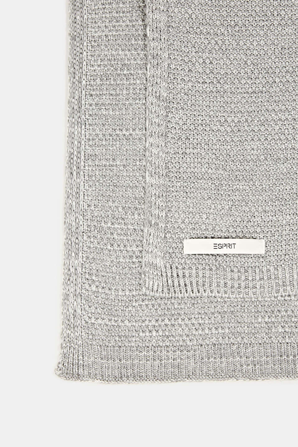 Knit plaid, LCLIGHTGREY, detail image number 2