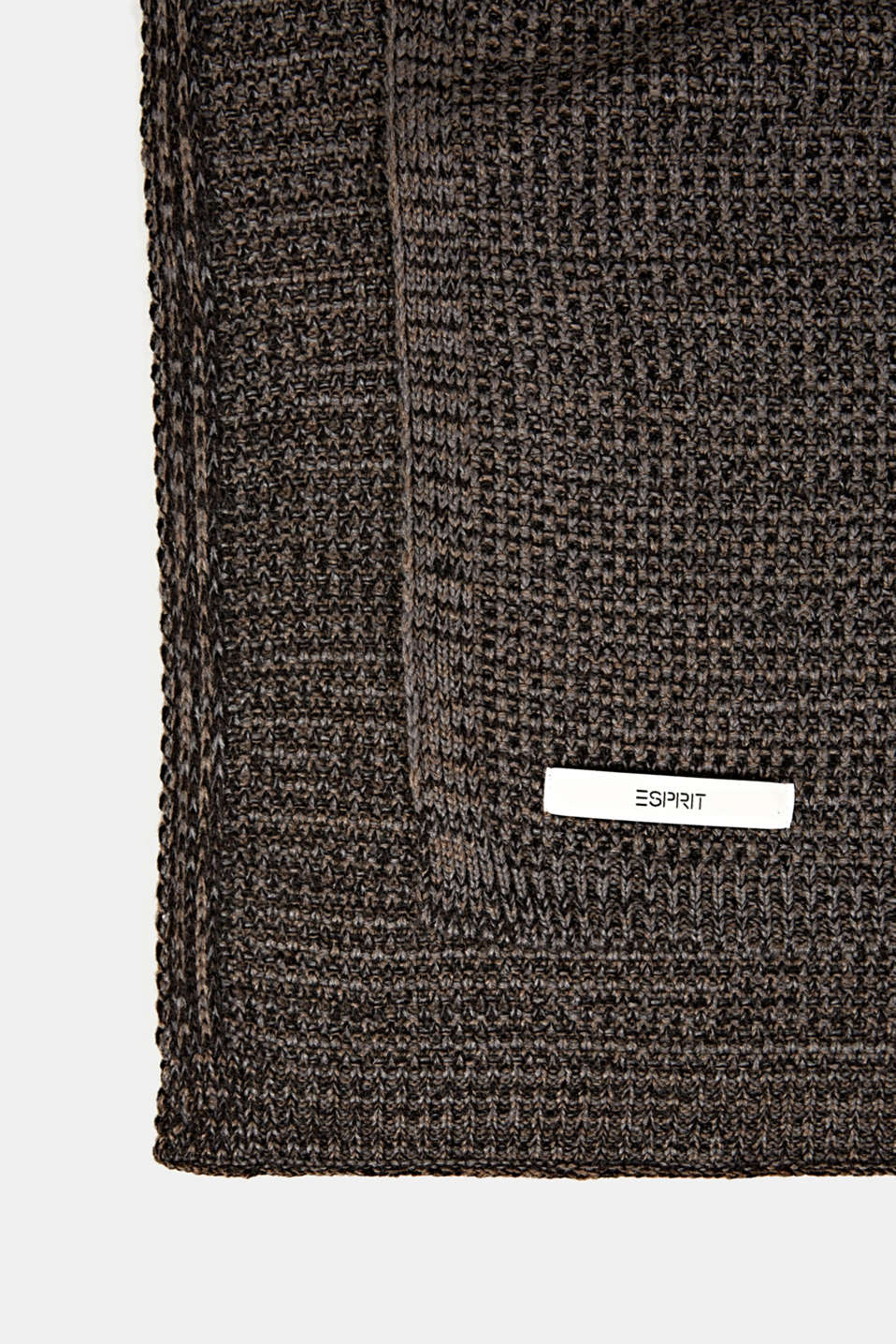 Knit plaid, LCBROWN, detail image number 2