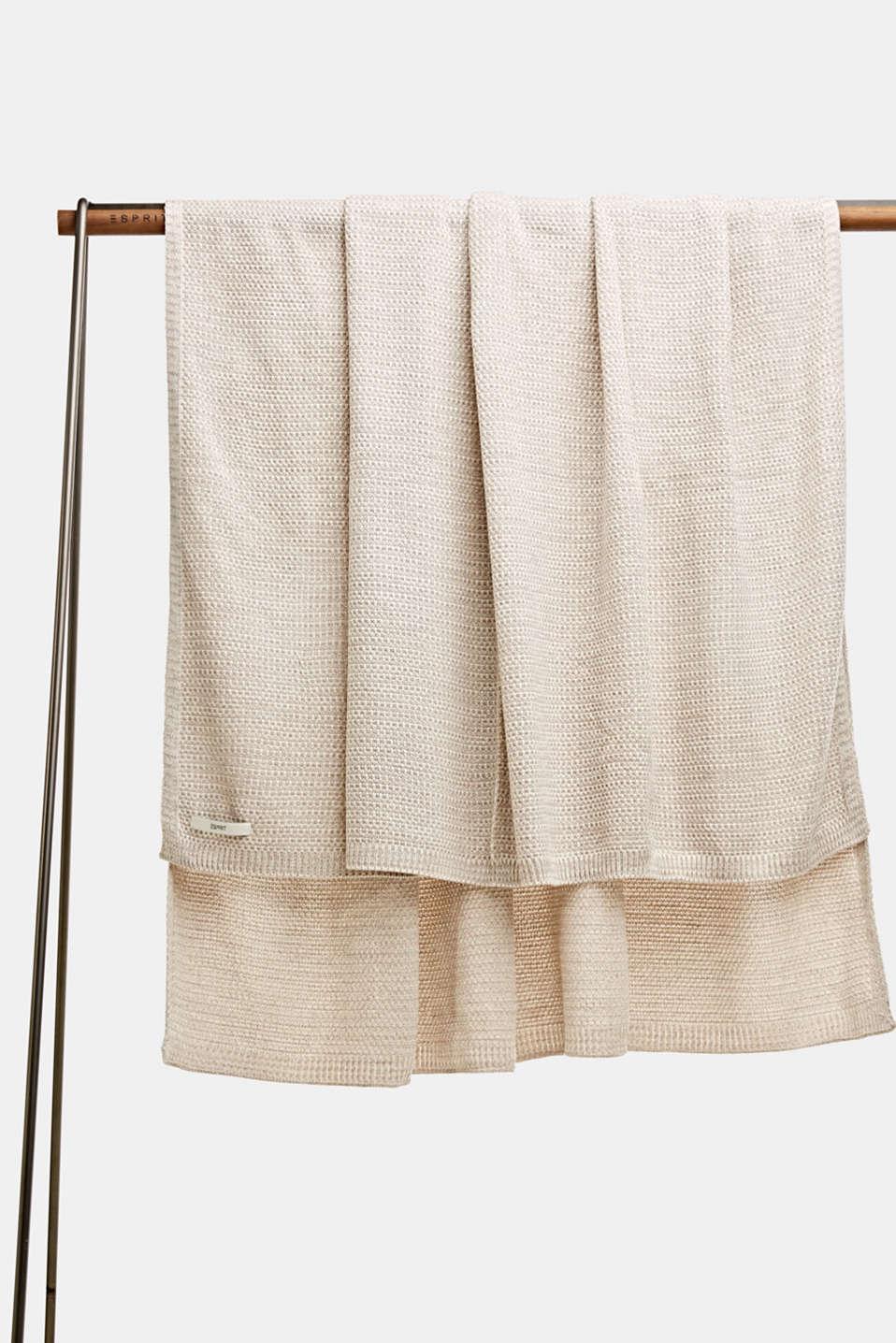Knit plaid, LCNATURE, detail image number 0