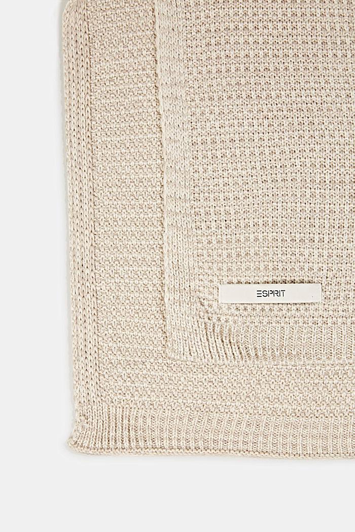 Knit plaid, NATURE, detail image number 2