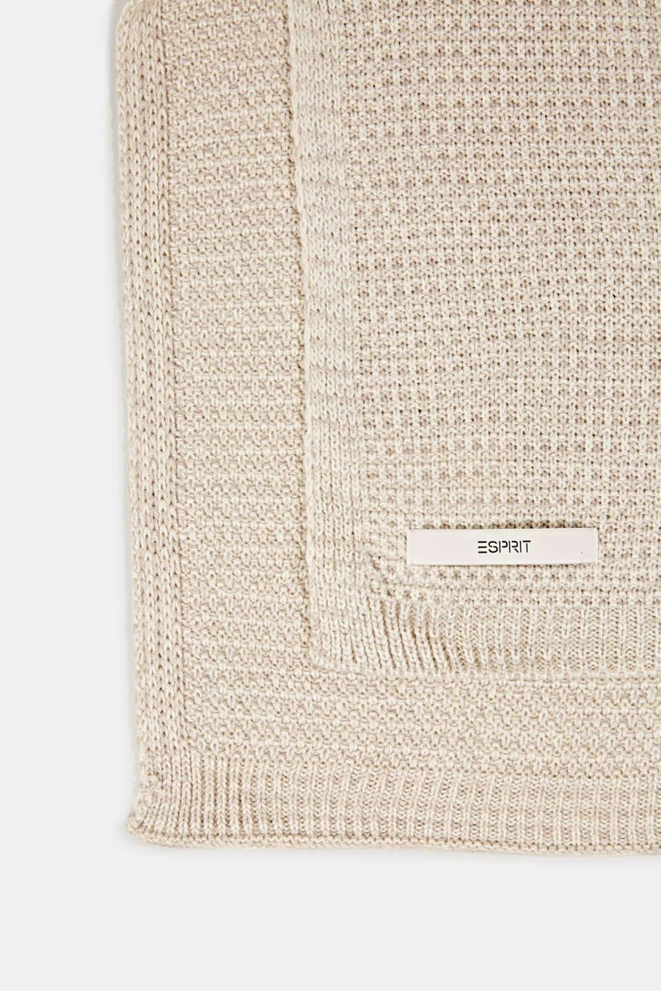 Knit plaid, LCNATURE, detail image number 2