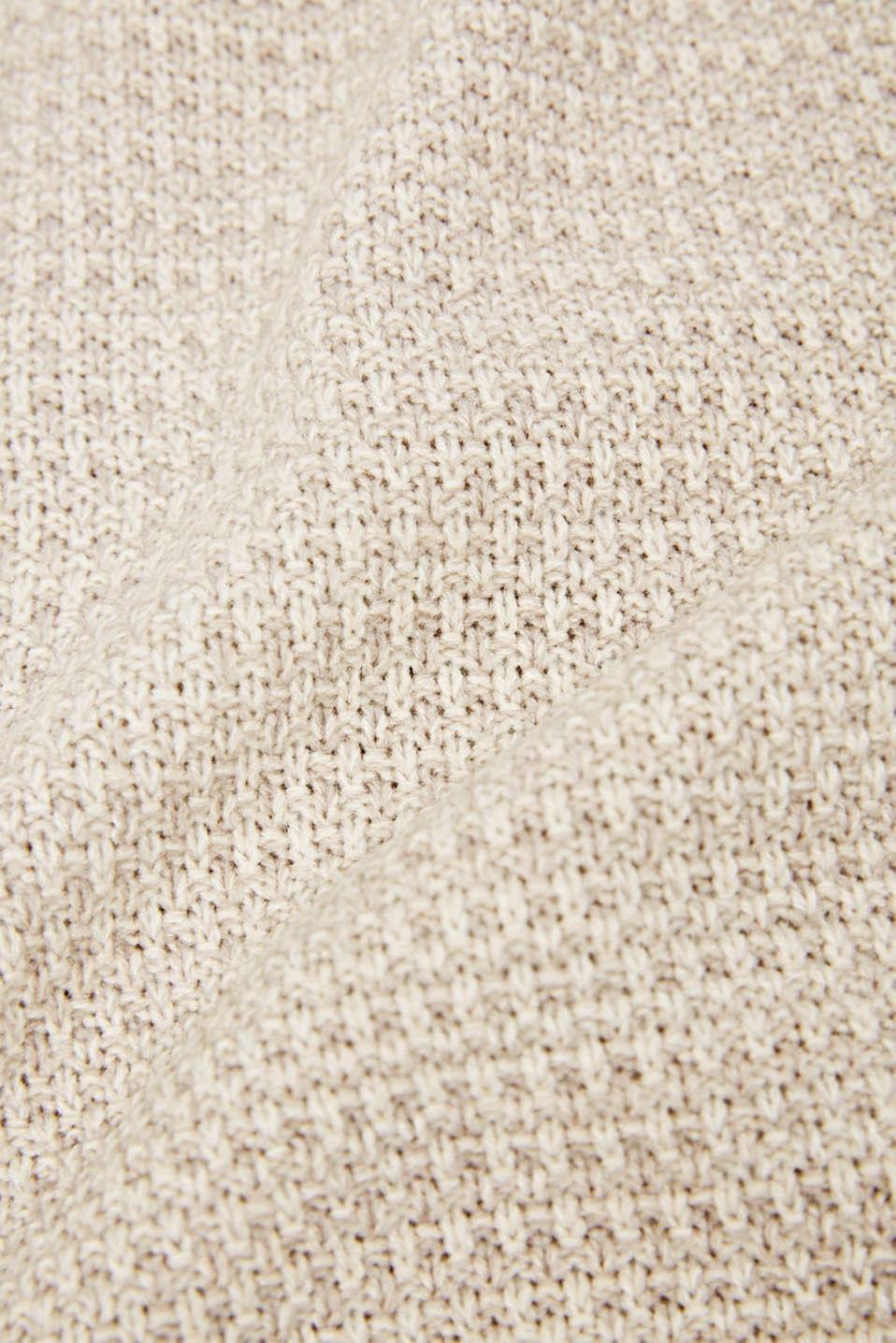 Knit plaid, LCNATURE, detail image number 1