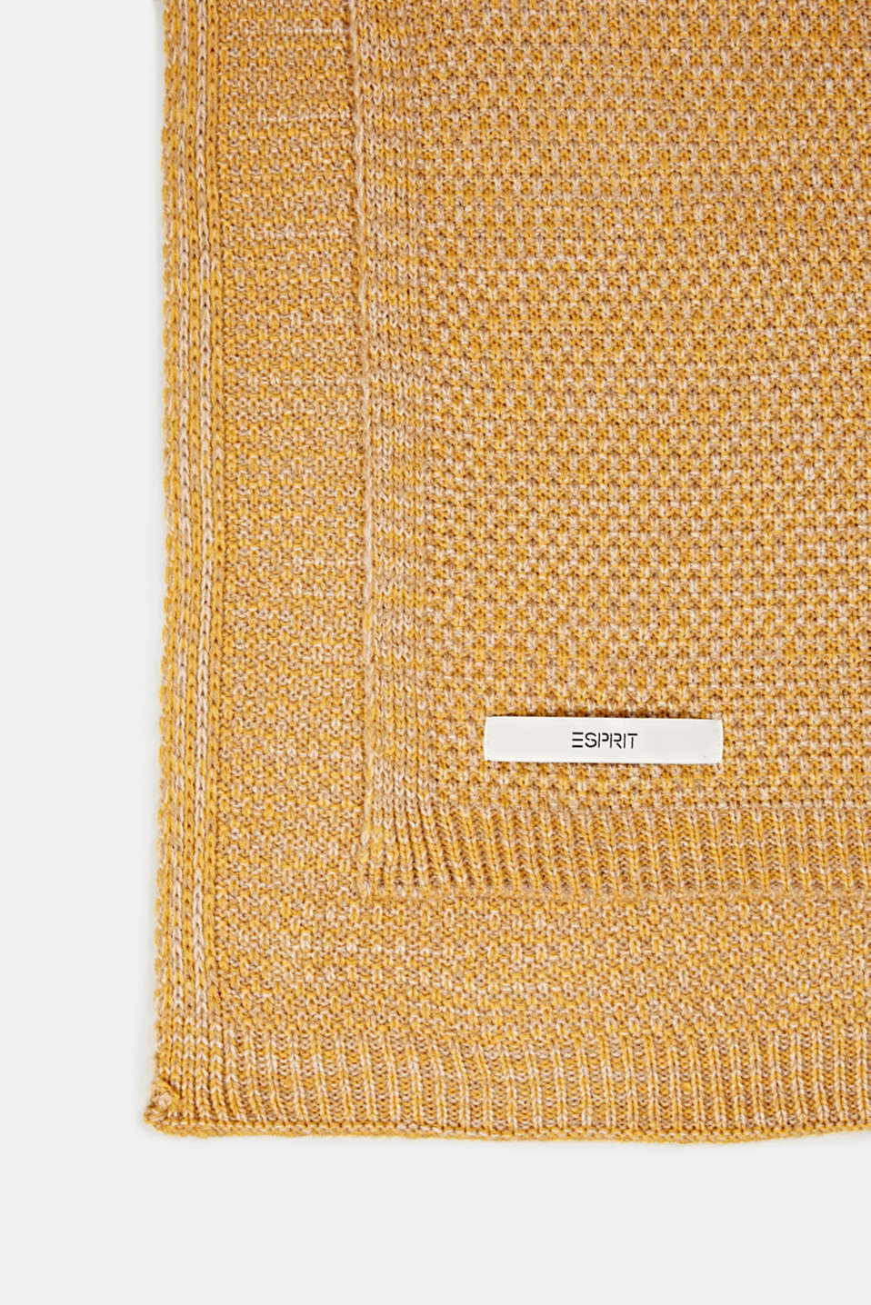 Knit plaid, LCMUSTARD, detail image number 2