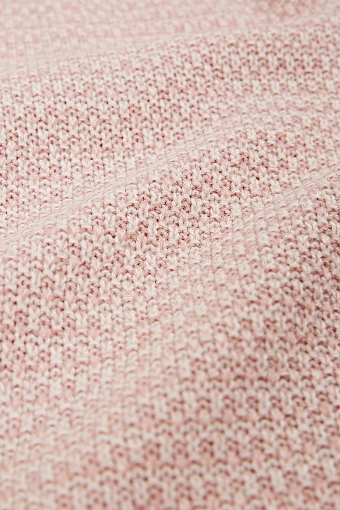 Knit plaid, ROSE, detail image number 1