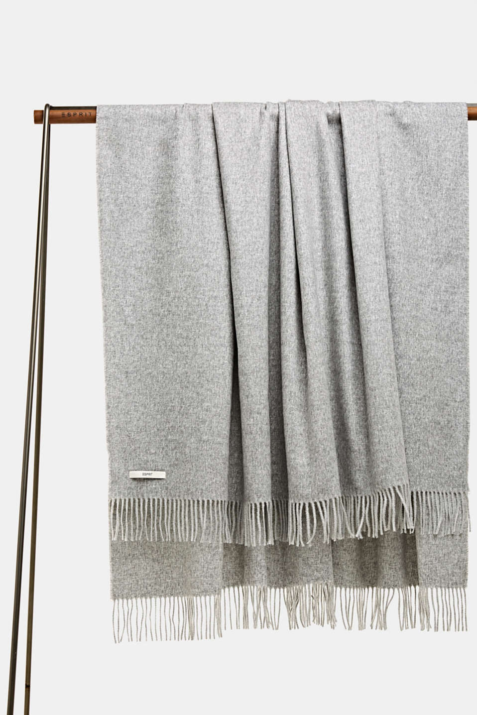Throw with fringing, LCLIGHTGREY, detail image number 0