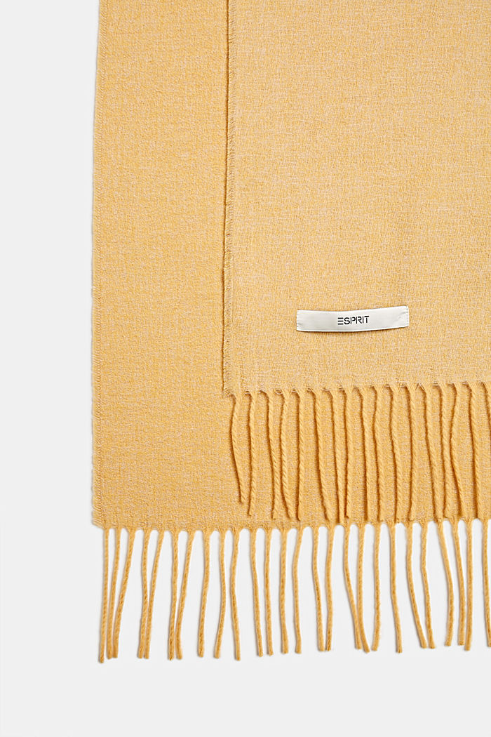 Throw with fringing, MUSTARD, detail image number 2