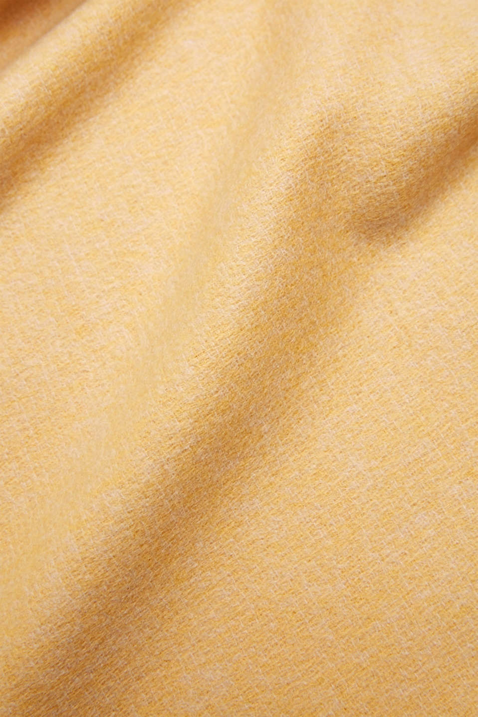 Throw with fringing, LCMUSTARD, detail image number 1