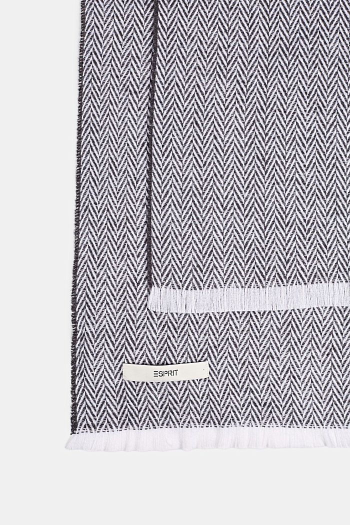 Throw with a herringbone pattern, GREY, detail image number 2