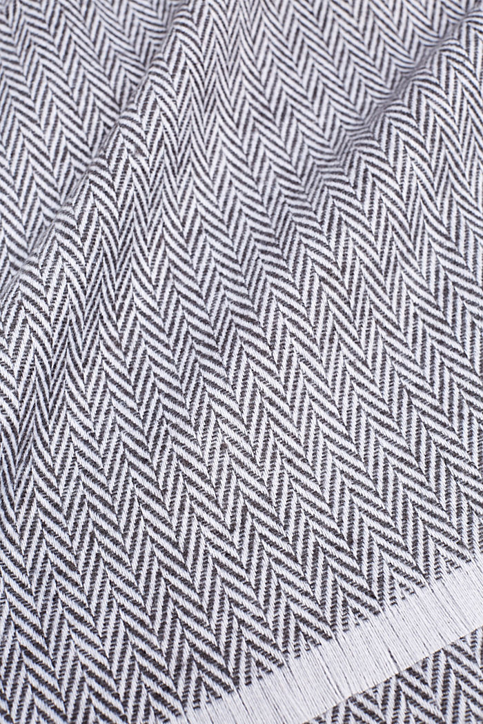 Throw with a herringbone pattern, GREY, detail image number 1