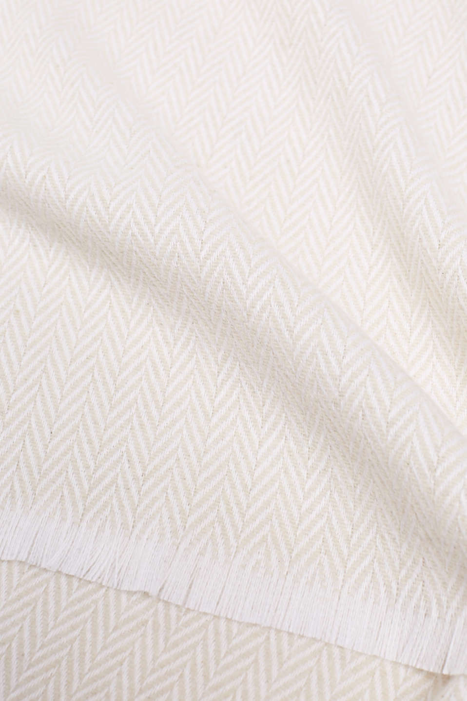 Throw with a herringbone pattern, NATURAL, detail image number 1