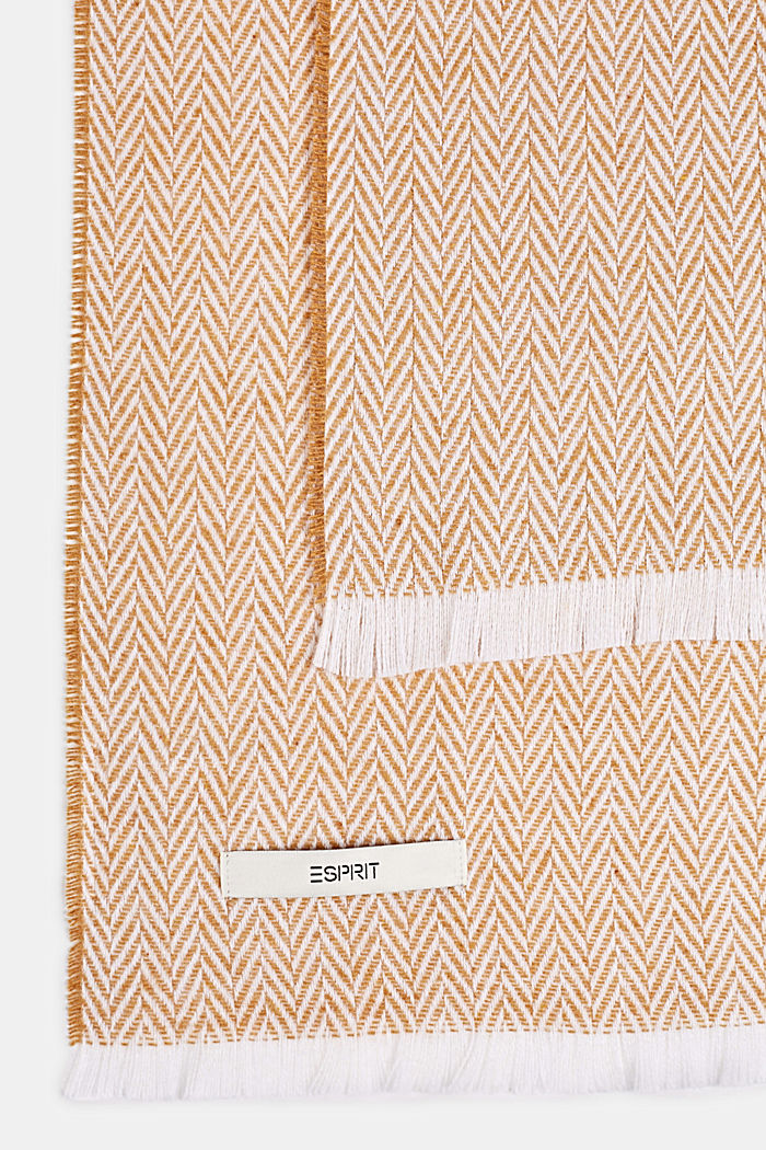 Throw with a herringbone pattern, MUSTARD, detail image number 2