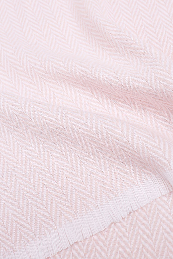 Plaid mit Fischgräten-Muster, ROSE, detail image number 1