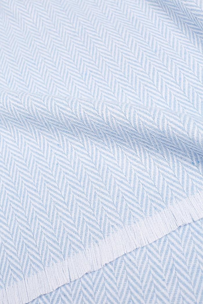 Plaid mit Fischgräten-Muster, BLUE, detail image number 1