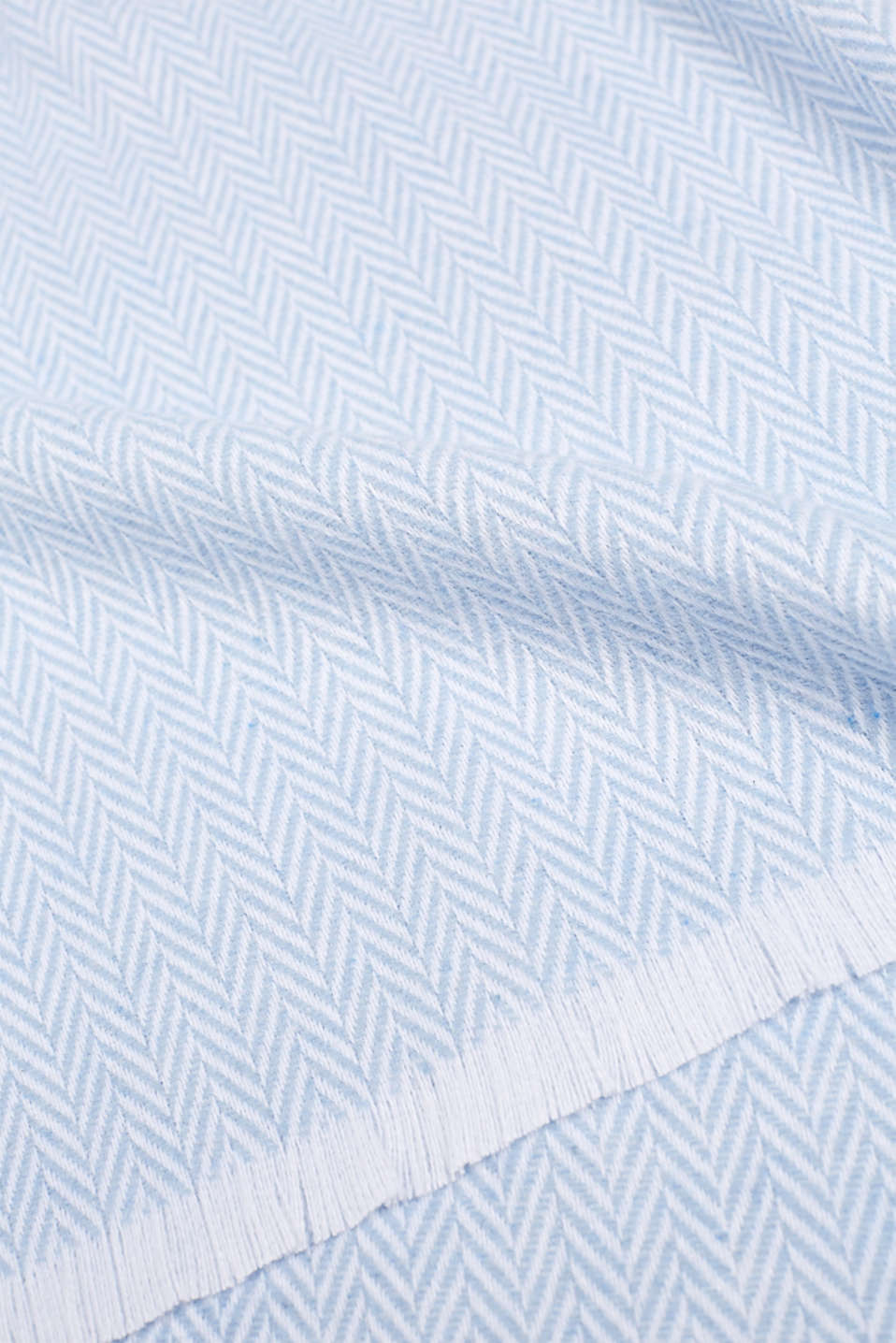 Throw with a herringbone pattern, BLUE, detail image number 1