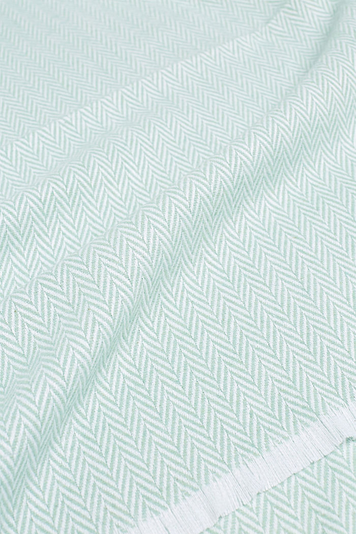 Throw with a herringbone pattern, MINT, detail image number 1
