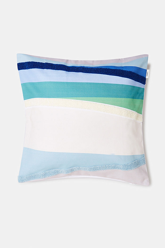 Cushion cover made of 100% cotton, BLUE, detail image number 1