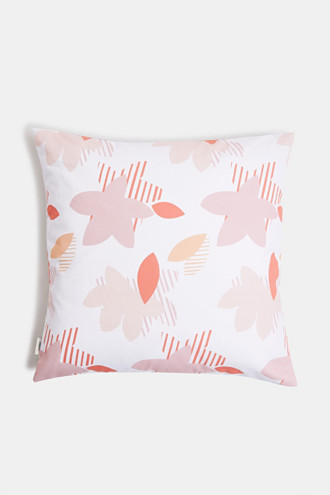 Cushion cover with a floral pattern, 100% cotton
