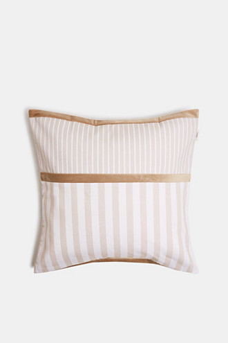 Striped cushion cover in a mix of materials