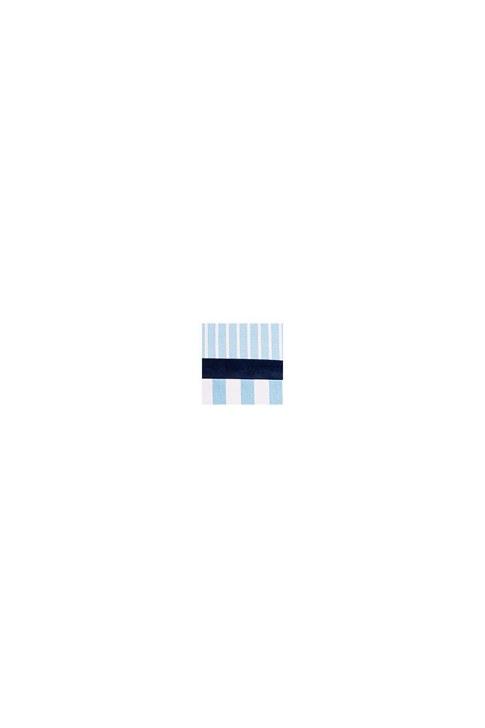 Gestreifte Kissenhülle aus Material-Mix, BLUE, swatch