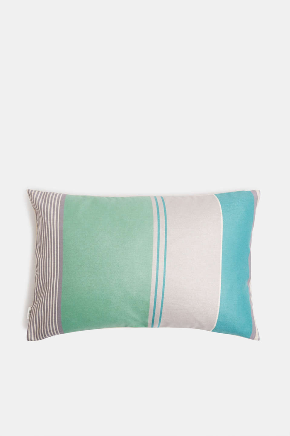 Striped cushion cover, GREEN, detail image number 1
