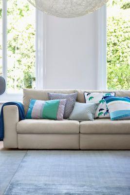 Striped cushion cover, GREEN, detail