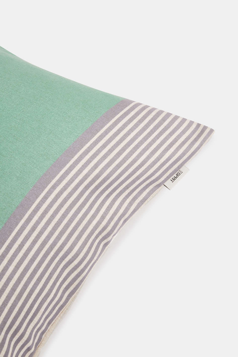 Striped cushion cover, GREEN, detail image number 2