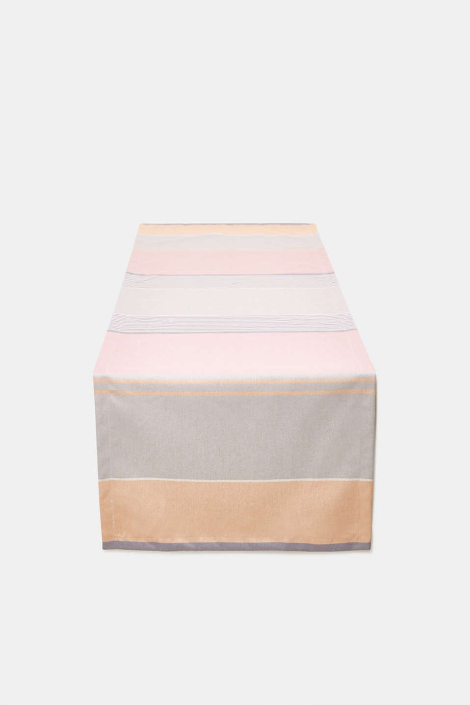 Table runner with multi-coloured stripes, ROSE, detail image number 0