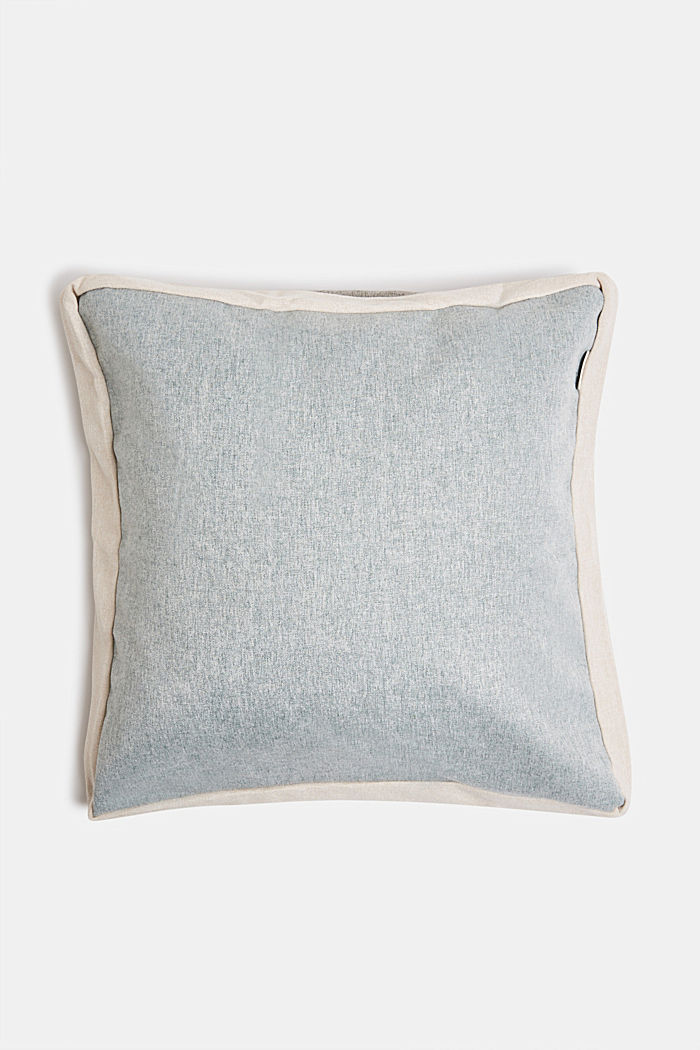Flannel-look cushion cover, BREEZE-GRAU, detail image number 0