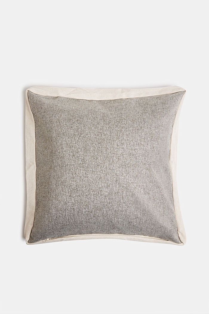 Flannel-look cushion cover, BREEZE-GRAU, detail image number 2