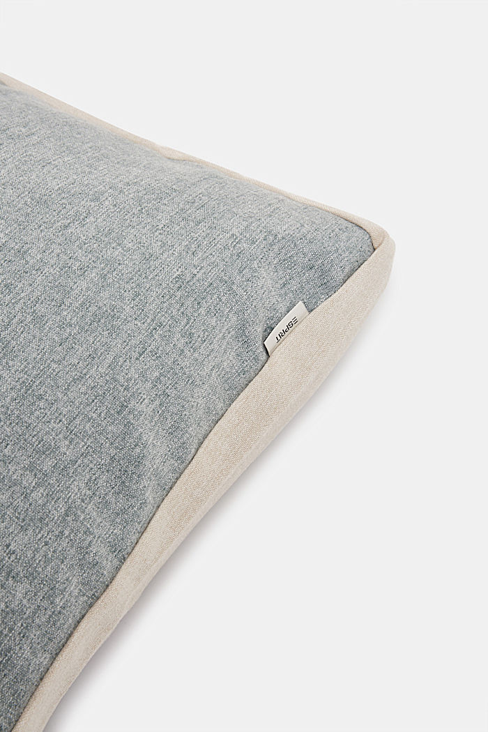 Flannel-look cushion cover, BREEZE-GRAU, detail image number 1